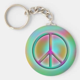 Friedensentwurf 6 standard runder schlüsselanhänger