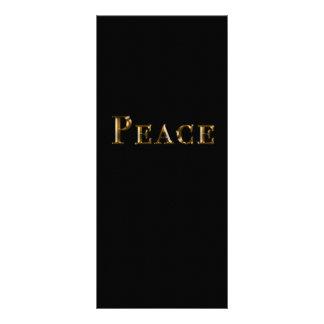 Friedensentwurfs-Gestell-Karte Werbekarte