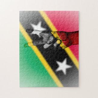 Friedensflagge des Heiligen Kitts. Puzzle