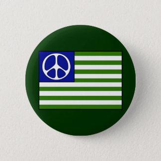 Friedensflagge Runder Button 5,7 Cm