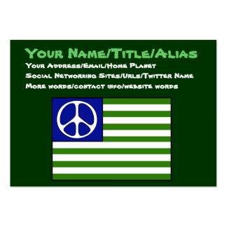 Friedensflagge Visitenkarte