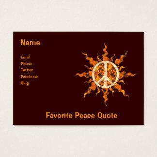 Friedensflammen-Spirale Visitenkarte