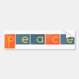 FRIEDENSfreude-LIEBE Sandpapier-Buchstaben Autoaufkleber