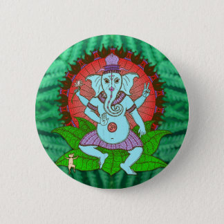 FriedensGanesh Tanzen Runder Button 5,1 Cm