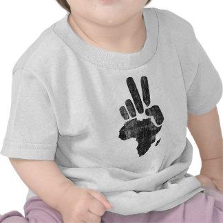 Friedenshand Darfurs Afrika Hemden
