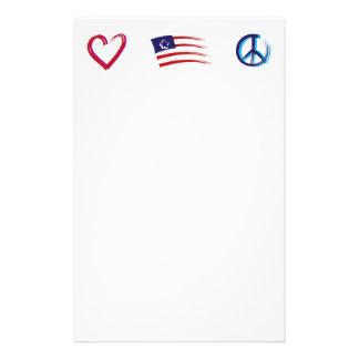 Friedenshoffnungs-Liebe Briefpapier