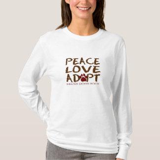 FriedensLiebe adoptieren… Schutz-Hunderegel T-Shirt
