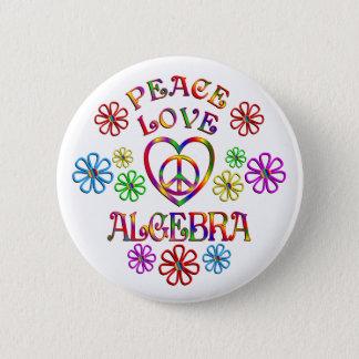 FriedensLiebe-Algebra Runder Button 5,1 Cm