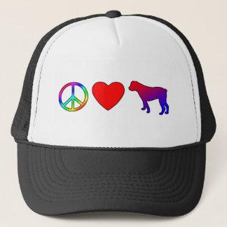FriedensLiebe-Amerikaner-Bulldoggen Truckerkappe
