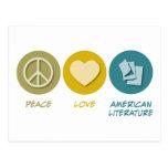 FriedensLiebe-amerikanische Literatur Postkarte