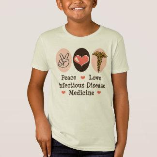FriedensLiebe-ansteckende Krankheit scherzt Bio T T-Shirt