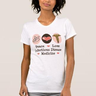 FriedensLiebe-ansteckende Krankheits-beunruhigtes T-Shirt
