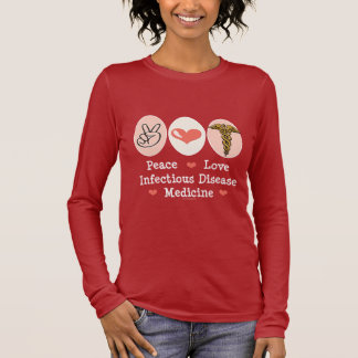 FriedensLiebe-ansteckende Krankheits-langes Langarm T-Shirt