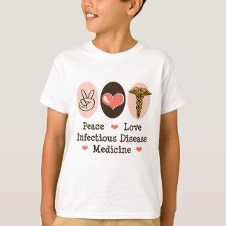 FriedensLiebe-ansteckende Krankheits-Medizin T-Shirt