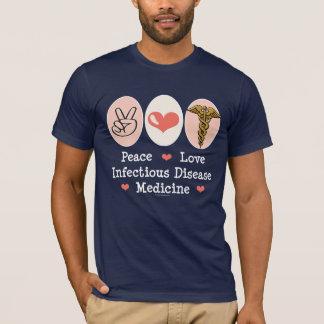 FriedensLiebe-ansteckende Krankheits-Medizin-T - T-Shirt