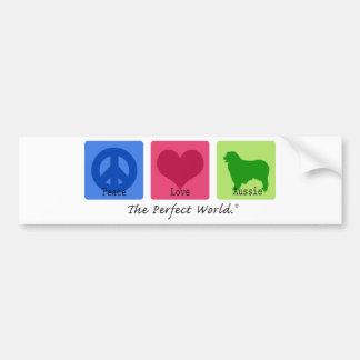 FriedensLiebe-Australier-Schäfer Auto Aufkleber