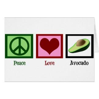 FriedensLiebe-Avocado Karte