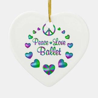 FriedensLiebe-Ballett Keramik Herz-Ornament
