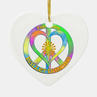 FriedensLiebe-Ballett-Tanzen Keramik Herz-Ornament