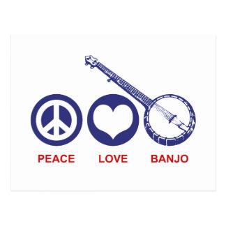 FriedensLiebe-Banjo Postkarte
