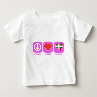 FriedensLiebe-Baske Baby T-shirt