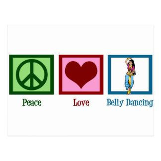 FriedensLiebe-Bauch-Tanzen Postkarte