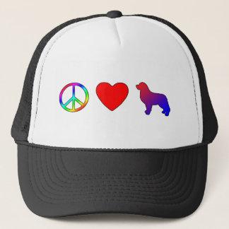 FriedensLiebe Bernese Gebirgshunde Truckerkappe