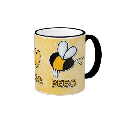 FriedensLiebe-Bienen-Tasse Ringer Tasse