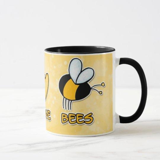 FriedensLiebe-Bienen-Tasse Tasse