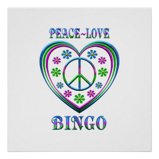 FriedensLiebe-Bingo Poster