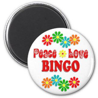 FriedensLiebe-Bingo Runder Magnet 5,1 Cm