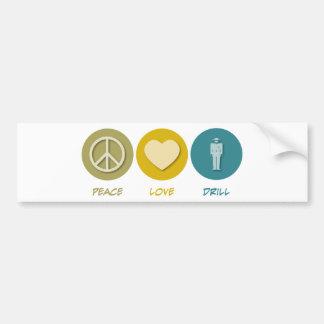 FriedensLiebe-Bohrgerät Autoaufkleber
