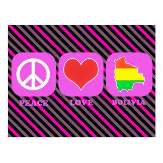 FriedensLiebe Bolivien Postkarte