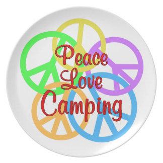 FriedensLiebe-Camping Melaminteller
