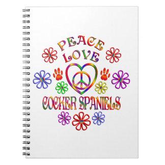 FriedensLiebe-Cockerspaniel-Spaniels Spiral Notizblock