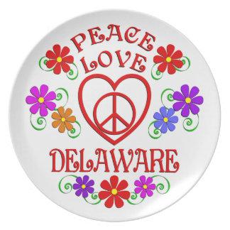 FriedensLiebe Delaware Melaminteller