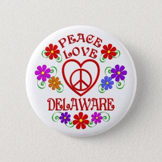 FriedensLiebe Delaware Runder Button 5,1 Cm