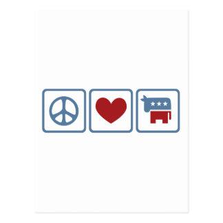 FriedensLiebe Demokraten Postkarte