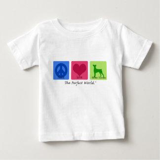 FriedensLiebe-DeutscherPinscher Baby T-shirt