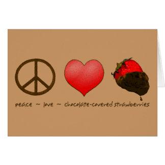 FriedensLiebe-Erdbeeren Grußkarte