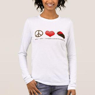 FriedensLiebe-Erdbeeren Langärmeliges T-Shirt