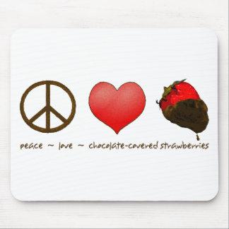 FriedensLiebe-Erdbeeren Mousepad
