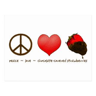 FriedensLiebe-Erdbeeren Postkarten