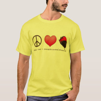 FriedensLiebe-Erdbeeren T-Shirt