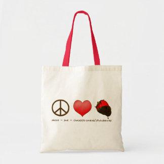 FriedensLiebe-Erdbeeren Tragetasche