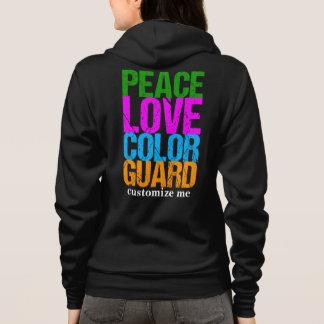 FriedensLiebe-Farbschutz-Gewohnheit Hoodie