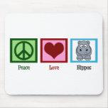 FriedensLiebe-Flusspferde Mousepad