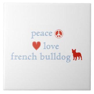 FriedensLiebe-französische Bulldoggen Keramikfliese
