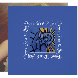 FriedensLiebe-Freude-blaues heiliges Karte