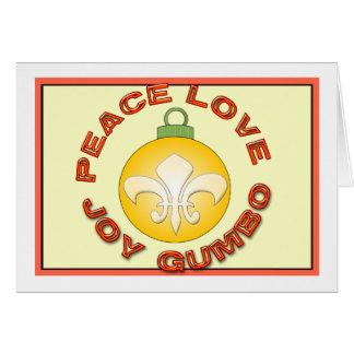 FriedensLiebe-Freude-Gumbo Gold Fleur de Lys Karte